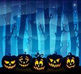 Pumpkin silhouettes theme image 3