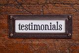 testimonials - file cabinet label