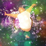Dancing man background