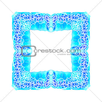 Abstract vector square ornamental border frame