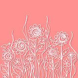 Vector watercolor paint floral design