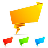 Origami Paper Speech Bubbles