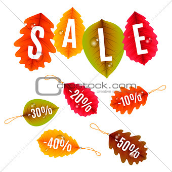 Autumn Sale Tags