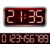 Red Digital Clock