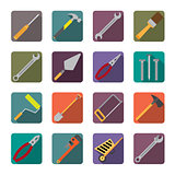 Set of renovation tools icons.