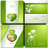 Summer flowers card.