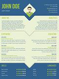 Modern curriculum cv resume template design