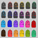 Set of four style backpack