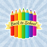 Back to School Label with Crayons