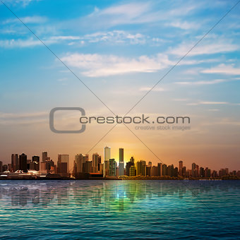 abstract background with silhouette of Vancouver