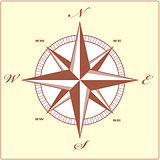 Wind rose compass retro design vector