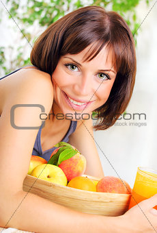 Portrait of healthy young woman