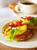 Tasty breakfast eggs