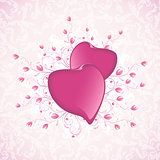 Happy Valentine's Day Floral Background