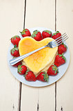 heart cheesecake