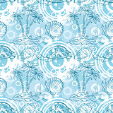 Seamless exotic ocean pattern