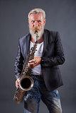Saxophon player