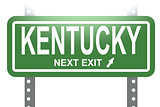 Kentucky green sign board isolated