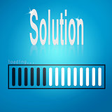 Solution blue loading bar