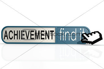 Achievement word on the blue find it banner