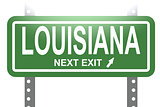 Louisiana green sign board isolated