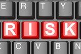 Risk button on modern computer keyboard