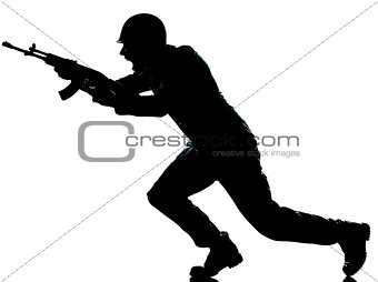 army soldier man on assault silhouette