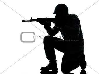 army soldier man shooting silhouette