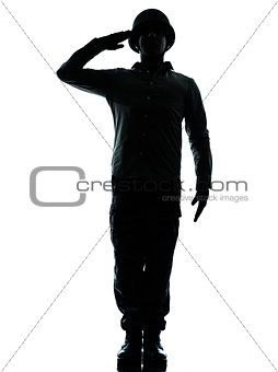 army soldier man saluting silhouette