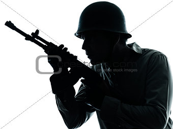 army soldier man portrait silhouette