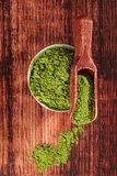 Green food supplements.