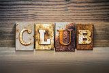 Club Concept Letterpress Theme