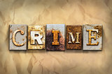 Crime Concept Rusted Metal Type