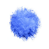 Colorful watercolor blue drop on white background.