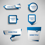Collection blue web pointers design template