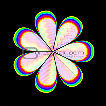 abstract stylized flower, vector