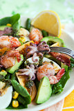 Seafood and vegetables salad