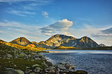 Amazing Sunset at Kamenitsa Peak And Tevno lake, Pirin Mountain