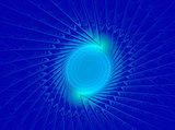 abstract fractal pattern on blue background