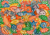 Underwater world abstract painting
