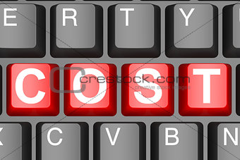 Cost button on modern computer keyboard
