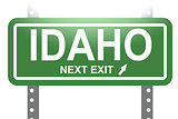 Idaho green sign board isolated