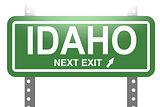 Idaho green sign board isolated