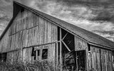 Abandoned Barn, Black and White Image
