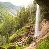 Pericnik waterfall in Triglav National Park, Julian Alps, Slovenia