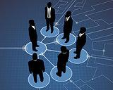 Businessmen global meeting