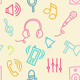 Sound seamless pattern