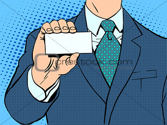 Businessman and business card