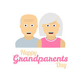 Grandparents day background with grandparents icons
