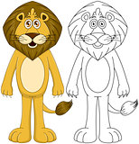 Cute Humanoid Lion With Lineart
